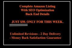 Package: Complete SEO Amazon Listing Write Up For Any Amazon Product.