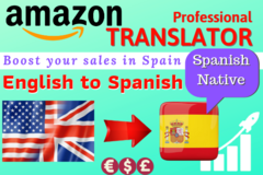 Package: English to Spanish translation of your Amazon Listing