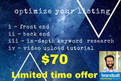 Package: Full Listing Optimization + Video Tutorial + Keyword Researc