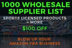 Package: 1,000 Wholesale, Distributor, Brand List - Licensed Products