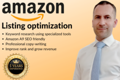 Package: 5* Amazon Listing w/ Keyword Research + SEO Fully Optimized