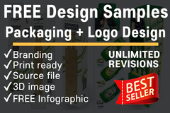Package: FREE Professional Packaging + Logo + Infographic Samples