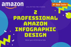 Package: 2 Professional Amazon Infographic Design-Unlimited Revisions