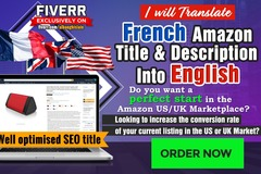 Package: Amazon Listing Translation & SEO optimised French - English