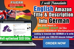 Package: Listing Translation, SEO optimised English, French - German