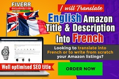 Package: Amazon Listing Translation & SEO optimised English - French