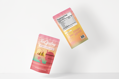 Package: Premium 3D pouch mockup of your product - Front + Back
