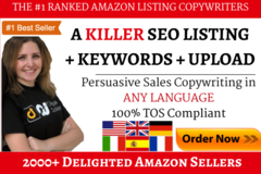 Package: A Killer SEO Amazon Listing | ANY Market + Keywords + UPLOAD