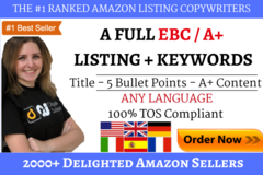 Package: Killer SEO Amazon A+ Listing (1 Market) + PPC Keywords