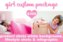 Package: Girl 7 Images + Infographic (lifestyle or white background)