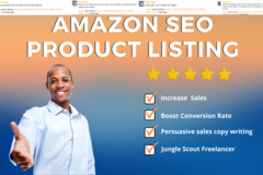 Package: Perfect amazon SEO product listing and description + PPC!