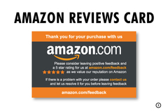 Package: AMAZON REVIEWS THANK YOU INSERT / FEEDBACK CARD INSERT