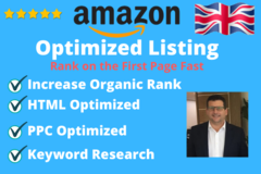 Package: Full Amazon Listing Written and Keyword Optimized