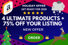 Package: 4 ULTIMATE PRODUCT PACKAGE + 75% OFF OPTIMIZED LISTING