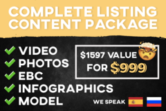 Package: Complete Listing Content Video + Photo + Design(NOW 35% OFF)