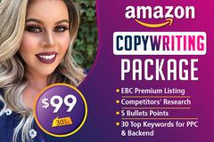 Package: Premium SEO Listing + EBC (we upload for you) + Top Keywords