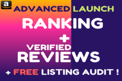 Package: Launch + Ranking + Verified Reviews = $$$ (2 Hours +Audit)
