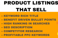 Package: optimized Amazon Listing w/ PPC Keywords