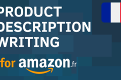 Package: I will write a product listing in french for amazon france