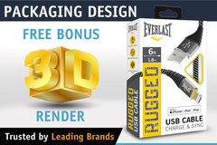 Package: Professional Packaging Box Design + FREE Bonus 3D Render
