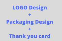 Package: LOGO + PACKAGE DESIGN + THANK YOU CARD + PHOTO EDITING