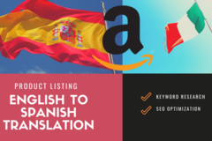 Package: I will Translate and SEO Optimize EN Listing into Spanish