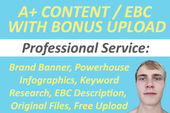 Package: PRO Amazon A+ Content / EBC with BONUS Upload