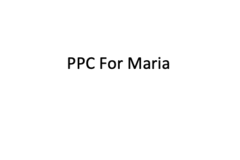 Package: Monthly PPC for Maria