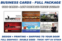 Package: Business Cards Full Package - Includes shipping
