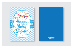 Package: Baby Shower Card -  - 5 x 7 in
