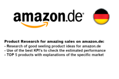 Package: Product Research on German Platform amazon.de