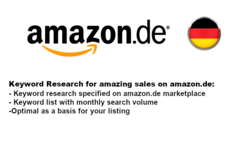 Package: Keyword Research for German Platform amazon.de