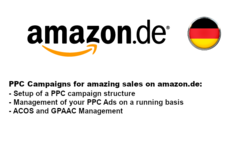Package: PPC Ads (Sponsored Products) on German Platform amazon.de