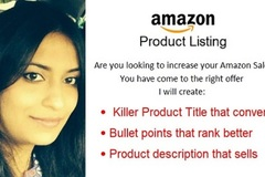 Package: 5 Amazon Listings - customized order