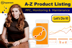 Package: A-Z product listing/PPC & Maintenance of up to 10 products