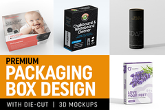 Package: Premium Packaging Box Design with Die Cut