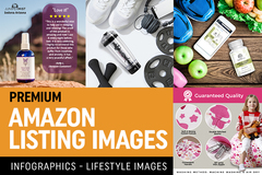 Package: Premium Amazon Listing Images [4 PACK] + Unlimited Revisions