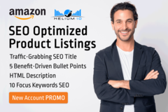 Package: *NEW ACCOUNT PROMO* High Converting Listing SEO Optimized