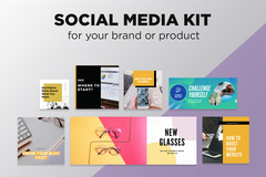 Package: Social Media Kit - Branded Content and Graphics