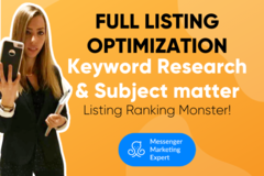 Package: Fully Optimized Amazon Listing & Keyword Research Ranking