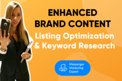 Package: Enhanced Brand Content & Amazon Listing & Keyword Research