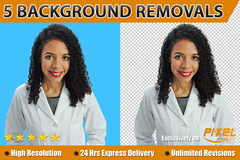 Package: Amazon Product Background Removal - 5 images