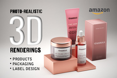 Package: Realistic 3D Rendering for Amazon - Unlimited Revisions!!!