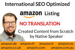Package: Optimized Amazon SEO Content in DE, FR, IT, ES, EN