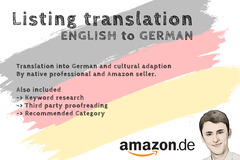 Package: Custom Order for Marius: Listing Translation (amazon.de)