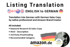 Package: Listing Translation | Keywords +HTML | English into German