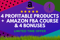 Package: 4 Products Research+Amazon FBA Course+4 Bonuse