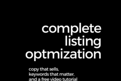 Package: Complete Listing Optimization - Copy, Keywords, and Video