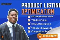 Package: Perfect Amazon SEO product listing + PPC!