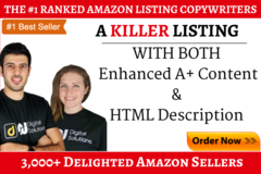 Package: A Killer Amazon Listing with both the A+ & HTML Description